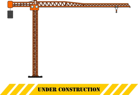 jenny: Detailed illustration of tower crane, heavy equipment and machinery