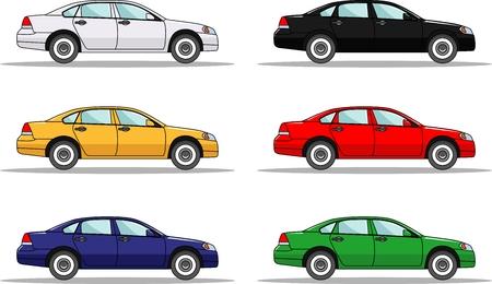 Cartoon Auto S Die Geisoleerd Op Een Witte Achtergrond Royalty Vrije Cliparts Vectoren En Stock Illustratie Image 47989400