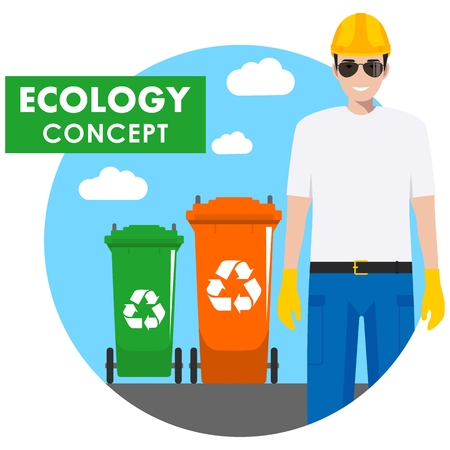 Garbage collector icon.