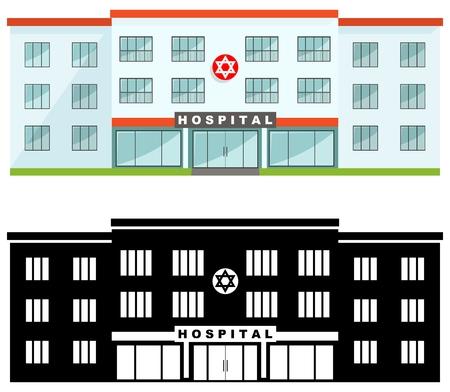 Medical center building icon.