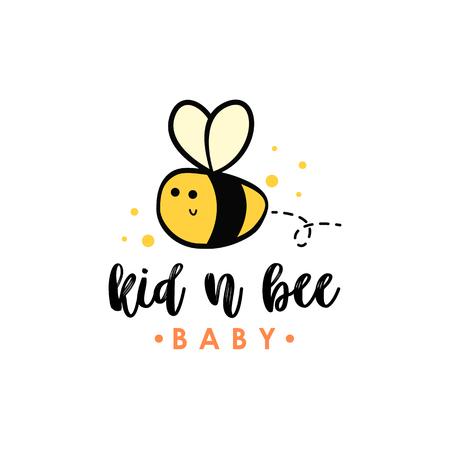 Bee logo vector Illustration