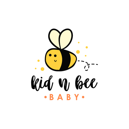 Bee logo vector Illustration