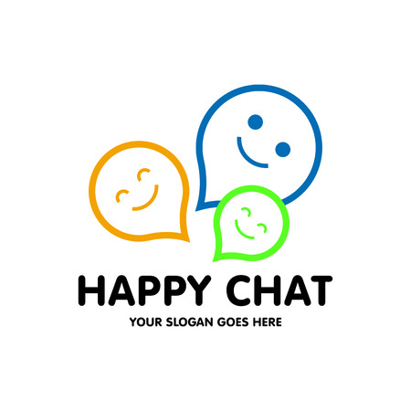 Chat logo vector Vectores