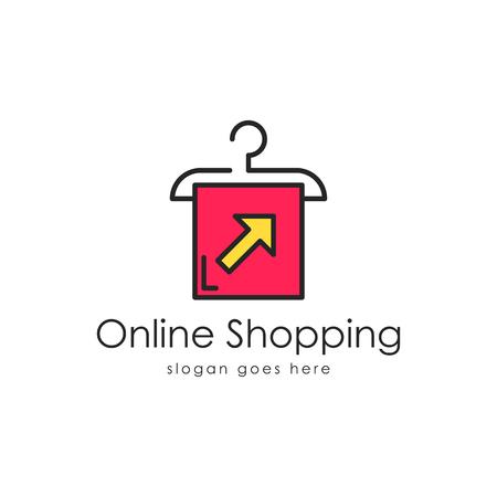 Online shopping logo vector Ilustração