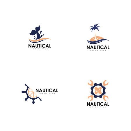 Nautical logo set