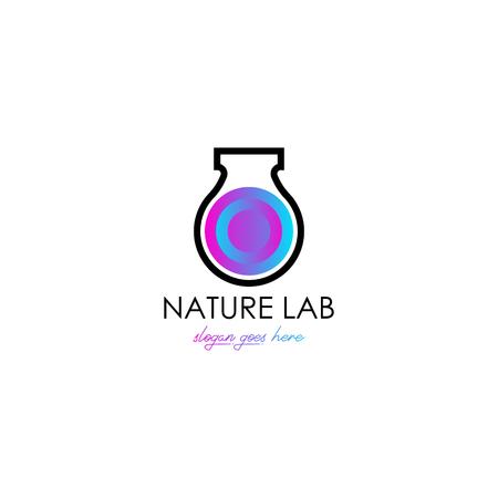 Lab logo template Vettoriali