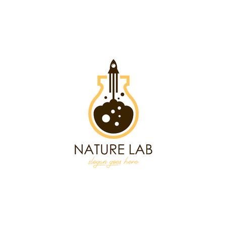 Lab logo template Foto de archivo - 119666451