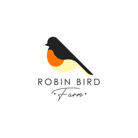 Robin bird logo 矢量图像