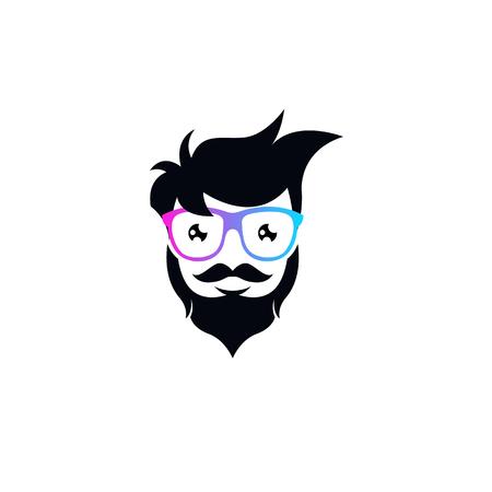 Geek logo template vector 일러스트