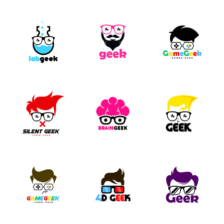 geek logo vector template