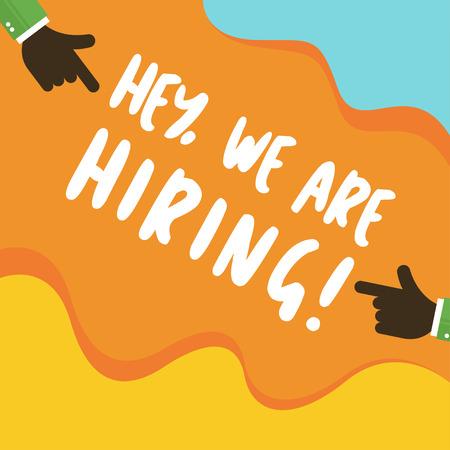 We are hiring vacancy open recruitment. Job vacancy banner. Open recruitment illustration  イラスト・ベクター素材