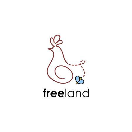 Chicken logo concept vector