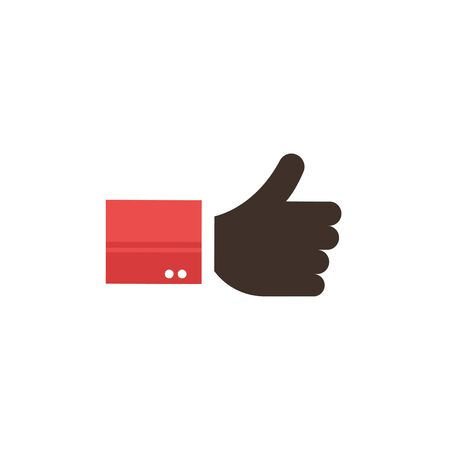 Thumbs up icon vector Illustration