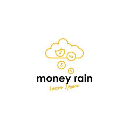 Rain logo concept vector