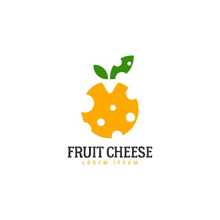 Cheese logo template on white
