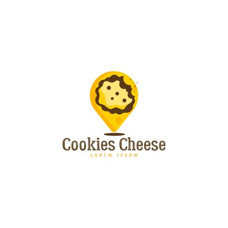 Cookies cheese template on white