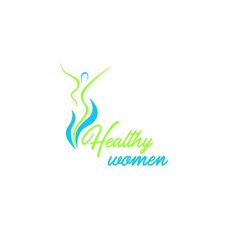 Healthy women logo template vector