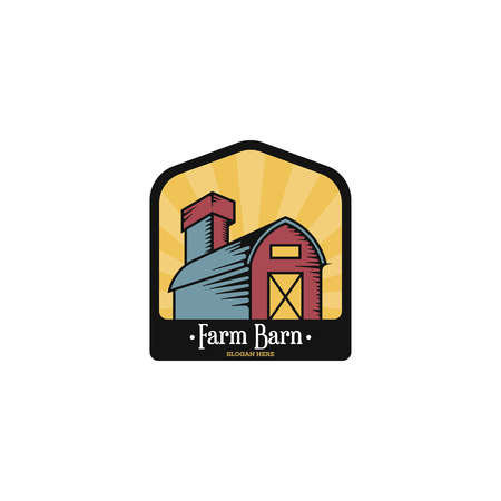 Barn logo template vector