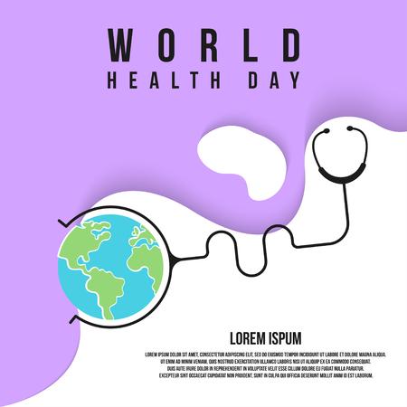 World health day illustration Ilustrace