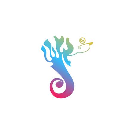 chameleon logo template vector