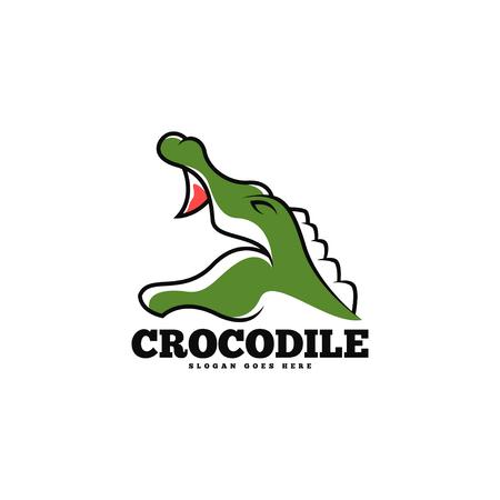 Crocodile logo template vector