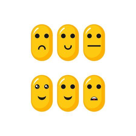Emoticon-Set-Vektor