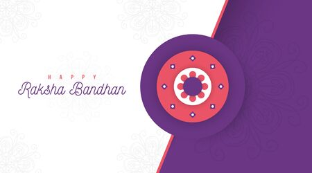 Happy raksha bandhan illustration vector Vettoriali