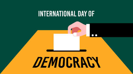 International day of democracy illustration vector. Vote illustration vector