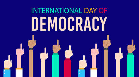 International day of democracy illustration vector. Vote illustration vector