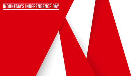 Indonesia's independence day background vector. Abstract red and white background vector Vettoriali