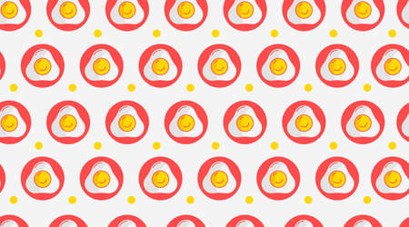 Flat omelet seamless pattern background vector