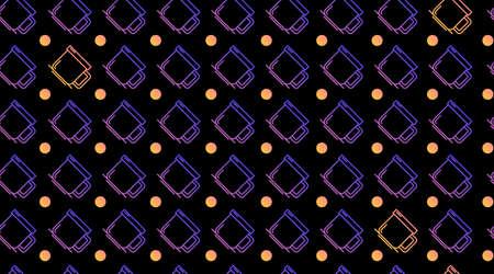 Drink seamless pattern background vector Vettoriali
