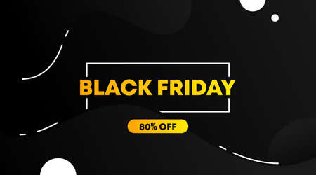 Black friday banner and background template vector. Flyer template for black friday. Vettoriali