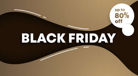 Black friday banner and background template vector. Flyer template for black friday. Archivio Fotografico