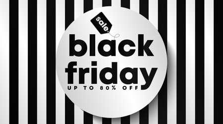 Black friday banner and background template vector. Flyer template for black friday. Ilustração Vetorial