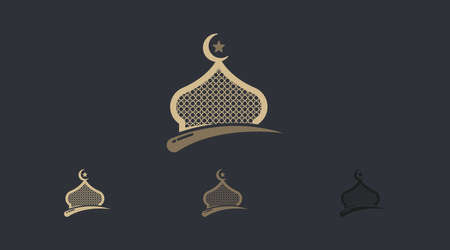Ramadhan Logo Concept Vector. Islamic Logo Template Isolated in White Background.