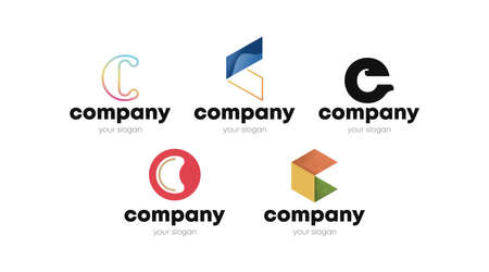 Abstract Letter C Concept for Your Business. Brand Identity using Letter C.  イラスト・ベクター素材