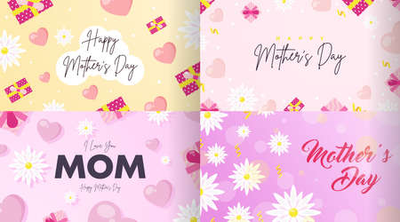 Happy Mother's Day Background Illustration Vector.
