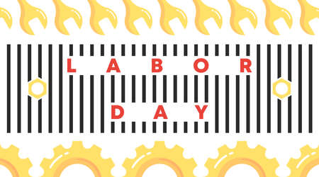 Happy international labor day background illustration vector.  イラスト・ベクター素材