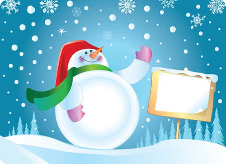 new year s santa claus: snowman Illustration