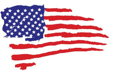 fluctuation: usa flag Illustration