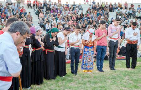 Antalya,Turkey - 06-24-2016:Alevi community worshiping outside Sajtókép