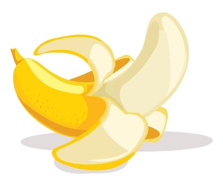 banaan cartoon: Banana illustratie