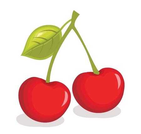 Cherry illustratie Stock Illustratie