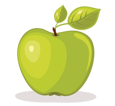 Green apple illustration Vector