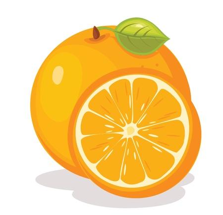 オレンジ色の図