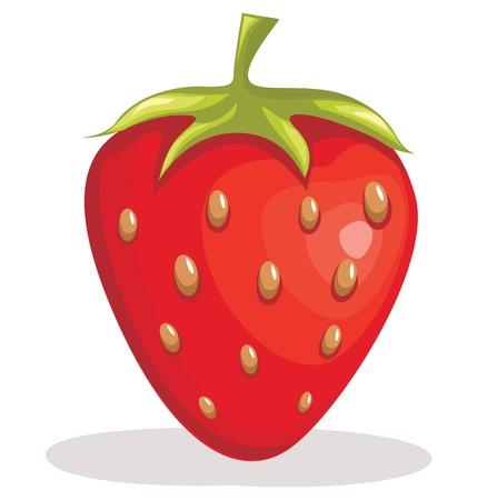 Strawberry illustratie Stock Illustratie