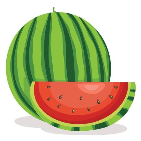 carita feliz caricatura: Ilustración de la sandía