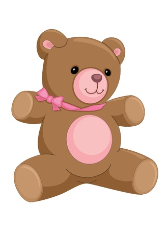 Cute bear illustration Vector