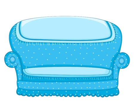 sofa furniture: Couch illustration Illustration